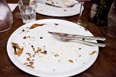 Empty White Plate In Italian Restaurant