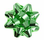Green Christmas Gift Bow