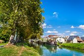 Rhone - Rhine Canal In Alsace, France
