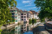 stock photo of petition  - Canal in Petite France area Strasbourg France