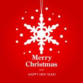 Merry Christmas and Happy New Year card. Vector illustration.