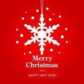 Frohe Weihnachten und Happy New Year-Karte. Vektor-Illustration.
