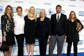 LOS ANGELES - DEC 7:  Glenn Close, Family, Friends arrives to the 2012 American Giving Awards at Pas