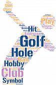 golf symbol tagcloud