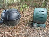 foto of tumbler  - Two styles of compost bins - JPG