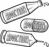 Alcohol and drug addiction sketch