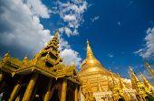 Golden Shwedagon Paya in daytime, Yangon, Myanmar