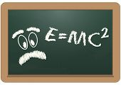 E=mc2 Chalkboard
