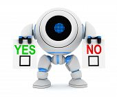 Robot And Blank Yes Or No