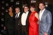 LOS ANGELES - DEC 8:  Grace Hightower, Robert DeNiro, David O. Russell and wife, Bradley Cooper arri