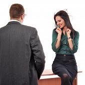 Colleagues Flirting At Job