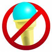 No Ice-cream Sign