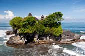 picture of tanah  - This image shows the Tanah Lot temple in Bali island indonesia - JPG