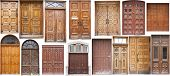 Different Old Style timber Doors