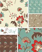 Bold Floral Vector Patterns.  Use as pattern fills to create stunning items for art and craft projects.