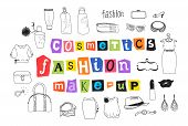 Fashion And Makeup Doodles