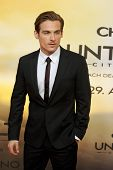BERLIN - AUG 20: Kevin Zegers at the 'The Mortal Instruments: City of Bones' premiere at Sony Center