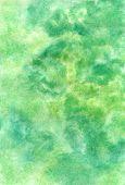 Handmade Watercolor Greenish Texture