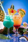 Most Popular Cocktails Series - Mai Tai And Blue Hawaiian