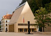 The house of parliament in Vaduz