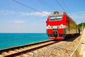 Train rides over Black Sea