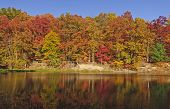 Fall Reflections On A Quiet Lake