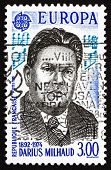 Postage Stamp France 1985 Darius Milhaud, Composer