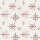 Decoration snowflakes seamless background.