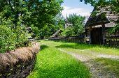 Rural landscape of an old vilage in Maramures