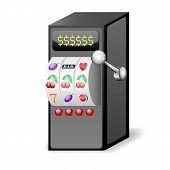Slot Machine Icon. Vector Illustration
