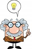 foto of physicist  - Professor With Good Idea Cartoon Mascot Character - JPG
