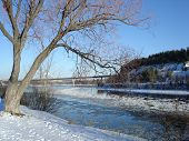 Bridges in winter scenic