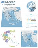 Greece maps with markers