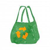 retro cartoon recycled bag