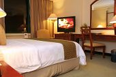 picture of table manners  - photograph of hotel or motel room set up
