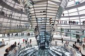 Tourists under Reichstag dome