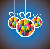 Beautiful Abstract Colorful Christmas Balls- Vector Graphic