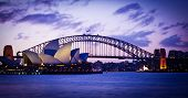SYDNEY, AUSTRALIA - SEPT 1 : Sydney's most famous icons, the Sydney Opera House and Harbour Bridge  The Opera House celebrate its 40th anniversary in 2013 - September , 2007in Sydney, Australia.