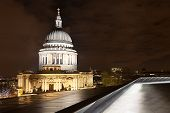 St Paul's Dome By Night