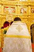 Close Up Of Orthodoxal Priest  In Church