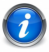 Info Icon Glossy Blue Button
