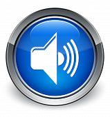 Volume Icon Glossy Blue Button