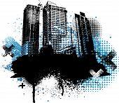 schwarze Stadt Grunge design