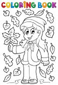 Coloring book with autumn theme 2 - eps10 vector illustration.