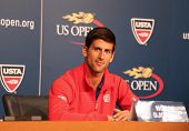 Seven times Grand Slam champion Novak Djokovic  during press conference before US Open 2013