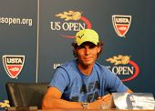 Twelve times Grand Slam champion Rafael Nadal during press conference