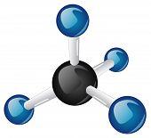 Molécula de metano CH4