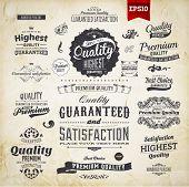 Colección de elementos retro para diseños caligráficos | Adornos Vintage | Etiquetas de calidad Premium | Gu
