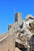 The Mauritian fortress is surrounded with picturesque gear walls. The seaside resort of Sintra on the Atlantic