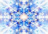 Light Blue Kaleidoscope Background